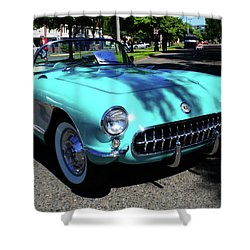 55 Corvette Shower Curtain