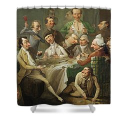 A Caricature Group Shower Curtain by John Hamilton Mortimer