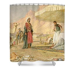 A Frank Encampment In The Desert Of Mount Sinai Shower Curtain by John Frederick Lewis