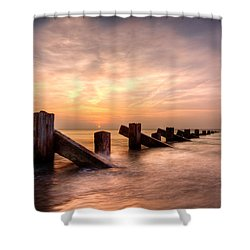 Shower Curtain featuring the photograph  Abermaw Sunset by Beverly Cash