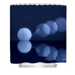 Shower Curtain featuring the digital art  Abstract Lights by Odon Czintos
