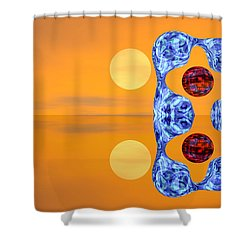 Shower Curtain featuring the digital art  An Artistic Colored And Fantasy by Odon Czintos