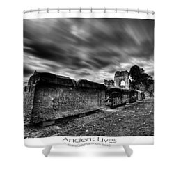 Shower Curtain featuring the photograph  Ancient Lives by Beverly Cash