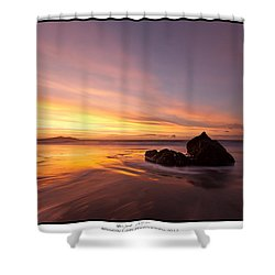 Shower Curtain featuring the photograph  Atomic Sunset by Beverly Cash