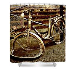 Bicycle Breakdown Shower Curtain