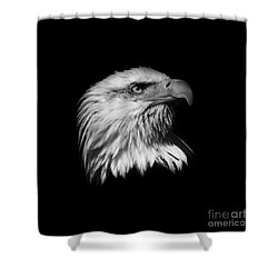 Black And White American Eagle Shower Curtain by Steve McKinzie