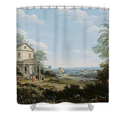 Brazilian Landscape Shower Curtain by Frans Jansz Post