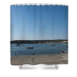 Bugibba Harbour Malta Shower Curtain by Guy Viner