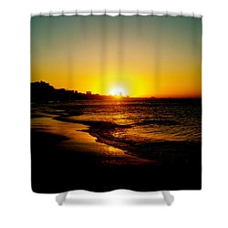 Christmas Sun Shower Curtain