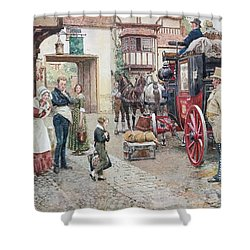 David Copperfield Goes To School Shower Curtain by Fortunino Matania