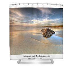 Dusk On The Beach Shower Curtain by Beverly Cash