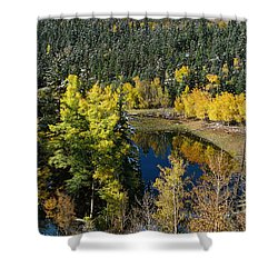 Fall Color On Bobcat Pass Shower Curtain