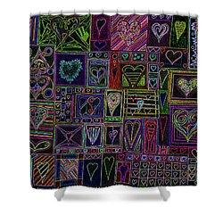 Find U'r Love Found V 3 Shower Curtain