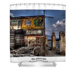 Full Service Days Shower Curtain by Beverly Cash