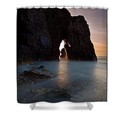 Gateway To The Sun Shower Curtain by Beverly Cash