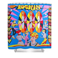 Girl Darts Shower Curtain