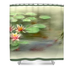 Shower Curtain featuring the painting  Gold Fish Pond by Bonnie Willis