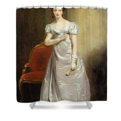 Harriet Smithson As Miss Dorillon Shower Curtain by George Clint