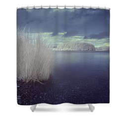 Shower Curtain featuring the photograph  Infrared At Llyn Brenig by Beverly Cash