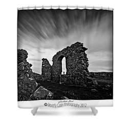 Llanddwyn Island Ruins Shower Curtain by Beverly Cash