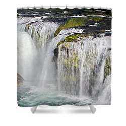 Lower Falls On The Upper Lewis River Shower Curtain