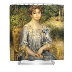 Madame Gaston Bernheim De Villers  Shower Curtain by Pierre Auguste Renoir