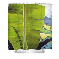 Shower Curtain featuring the painting  Maui Plantation by Andrew Drozdowicz