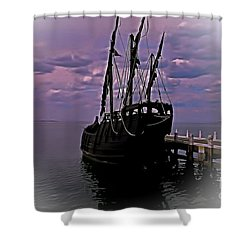 Notorious The Pirate Ship 5 Shower Curtain by Blair Stuart