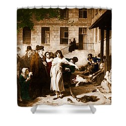 Pitie-salpetriere Hospital, 1795 Shower Curtain by Photo Researchers
