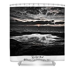 Red Rock Beach   Shower Curtain