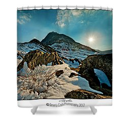 Spring Snows At Tryfan Shower Curtain