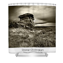 Shower Curtain featuring the photograph  Stone Guardian by Beverly Cash