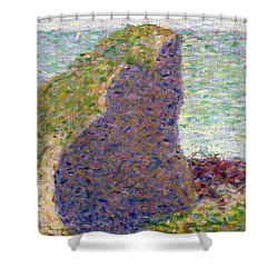 Study For Le Bec Du Hoc Shower Curtain by Georges Pierre Seurat