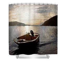 Sunset At Careel Bay Shower Curtain by Avalon Fine Art Photography