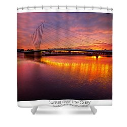 Shower Curtain featuring the photograph  Sunset Over The Quay by Beverly Cash