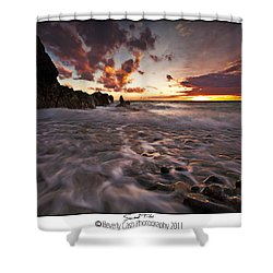 Sunset Tides - Porth Swtan Shower Curtain by Beverly Cash