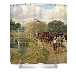 The Last Load  Shower Curtain by Philip Richard Morris