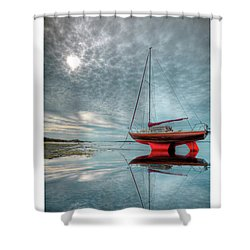 Waiting For The Tide Shower Curtain by Beverly Cash