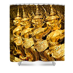Shower Curtain featuring the photograph  Wat Phra Kaeo by Luciano Mortula