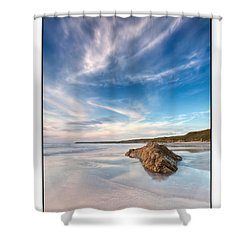 Welsh Coast - Porth Colmon Shower Curtain by Beverly Cash