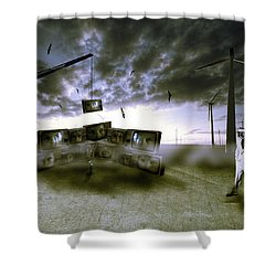 Who's Watching Who. Shower Curtain by Nathan Wright