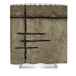 0292 Abstract Thought Shower Curtain