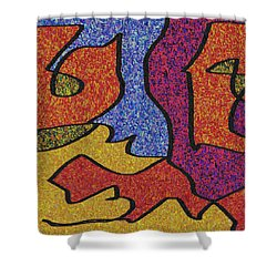 0664 Abstract Thought Shower Curtain by Chowdary V Arikatla