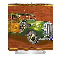 1947 Bentley Shooting Brake Shower Curtain by Jack Pumphrey