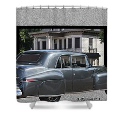1947 Lincoln Continental Coupe Shower Curtain