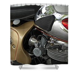 1966 Bsa 650 A-65 Spitfire Lightning Clubman Motorcycle Shower Curtain by Jill Reger