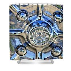 1970 Volkswagen Vw Karmann Ghia Wheel Shower Curtain by Jill Reger