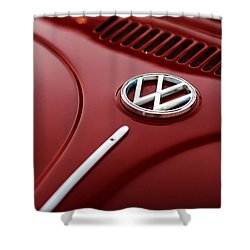 Shower Curtain featuring the photograph 1973 Volkswagen Beetle by Gordon Dean II
