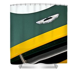 1993 Aston Martin Dbr2 Recreation Hood Emblem Shower Curtain by Jill Reger