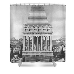 7 Wonders Of The World, Mausoleum Shower Curtain by Photo Researchers